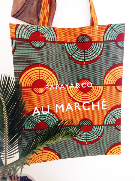 Shop Kuwala for the Au Marché Tote Bag (green) by PAPAYA & CO