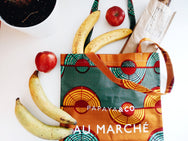 Shop Kuwala.co for the Au Marché Tote Bag (green) by PAPAYA & CO