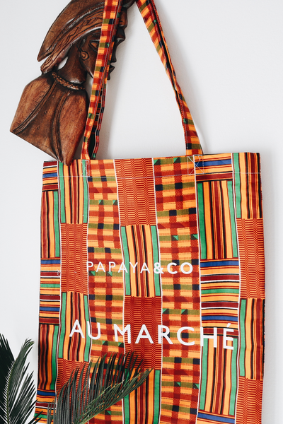 Shop Kuwala.co for the Au Marché Tote Bag (kente) by PAPAYA & CO