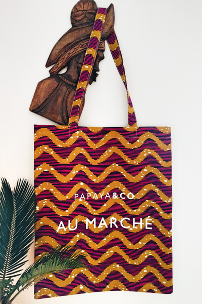 Shop Kuwala for the Au Marché Tote Bag (red) by PAPAYA & CO
