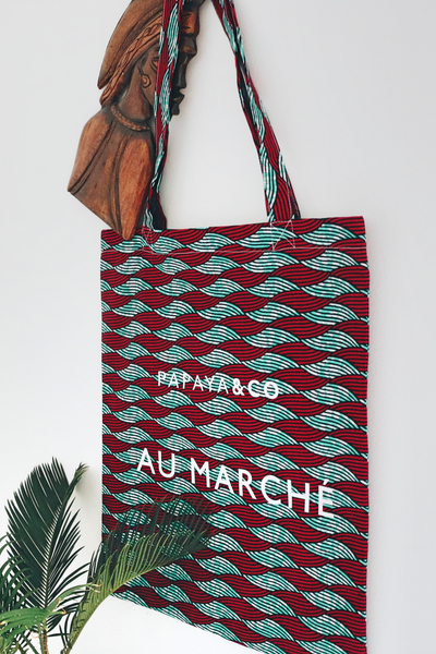 Shop Kuwala.co for the Au Marché Tote Bag (waves) by PAPAYA & CO