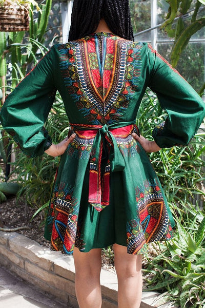 Shop at Kuwala for the Zhara Dress (Forest Green) by Asikere Afana - 3