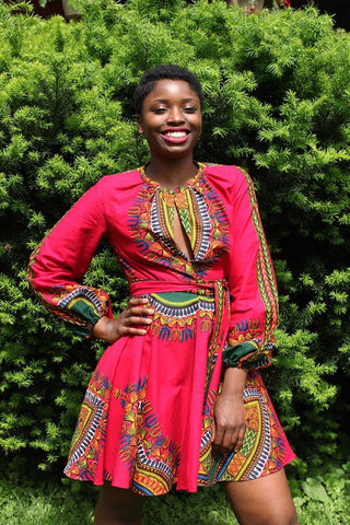 Shop at Kuwala for the Zhara Dress (Fuchsia Pink) by Asikere Afana - 1
