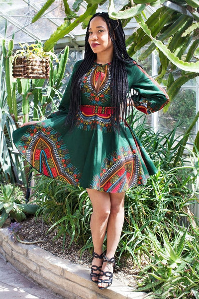 Shop at Kuwala for the Zhara Dress (Forest Green) by Asikere Afana - 1