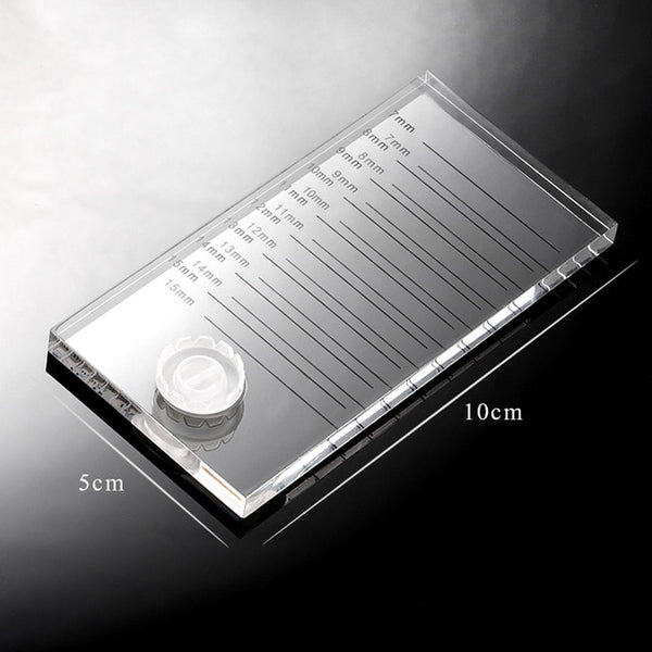New 2 in 1 Acrylic False Eyelashes Stand Pad - Hivexi