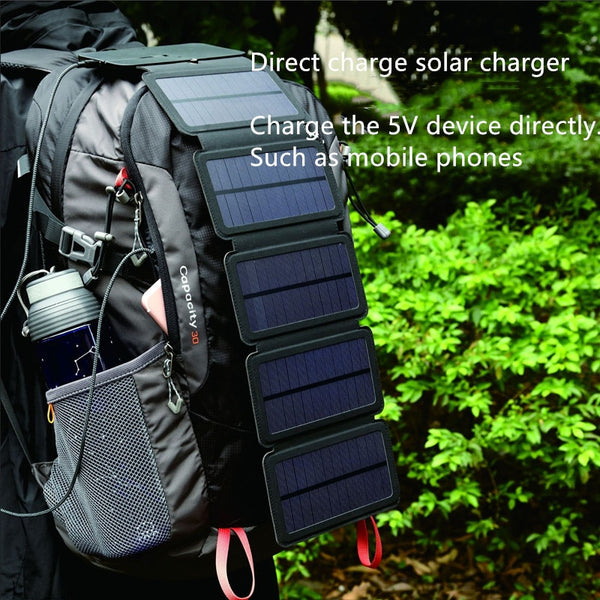 folding 10W Solar Cells Charger 5V 2.1A USB Output Devices Portable Solar Panels for Smartphones - Hivexi