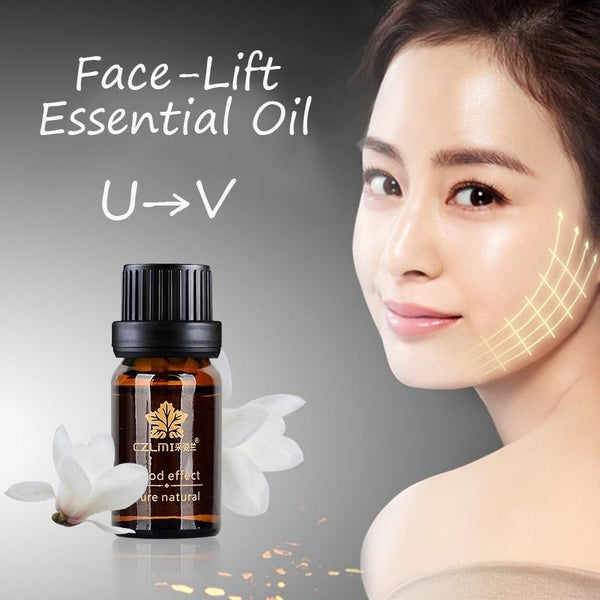 10ml Face Massage Oil Firming Skin Burning Fat Lifting Face Shaping v-Face Facial Beauty Oil - Hivexi