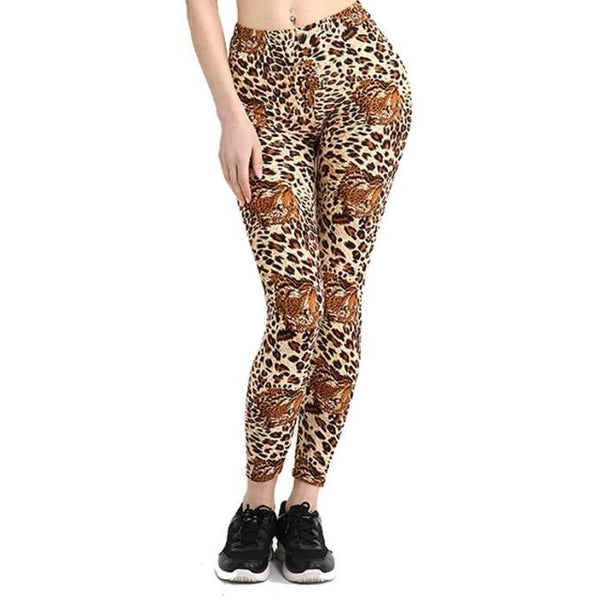 Camouflage Printing Elasticity Leggings Camouflage Fitness Pant Casual Legging For Women - Hivexi