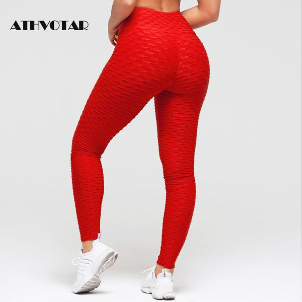ATHVOTAR Push Up  Women Fitness Pants & High Waist Sport Leggings Anti Cellulite - Hivexi