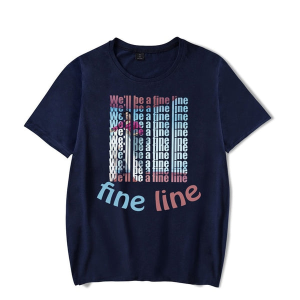 Harry Styles Fine Line Korean T Shirt & Tops Shirts Short Sleeve Round - Hivexi