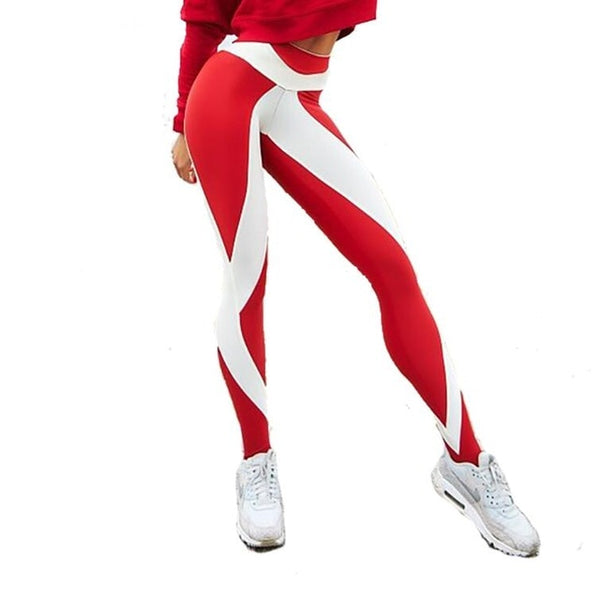 Slim High Waist Elasticity Legging Fitness Printing  Breathable Woman Pants Legging Push Up Strength - Hivexi