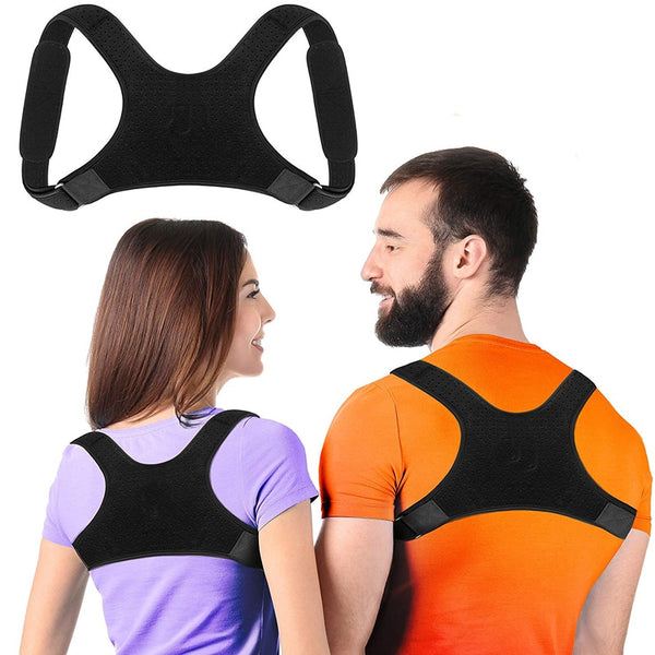 Brace Support Belt Adjustable Back Posture Corrector Clavicle Spine Back Shoulder Lumbar Posture Correction For Adult Unisex - Hivexi