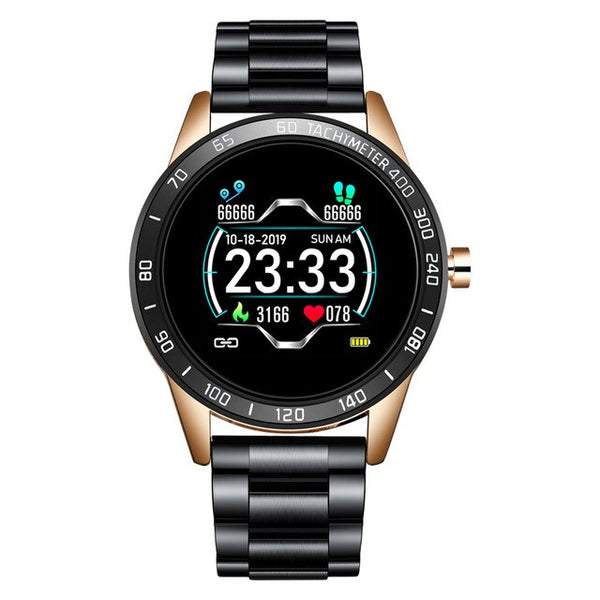 LIGE 2020 Men Waterproof Sport Heart Rate Blood Pressure Fitness Tracker Smartwatch - Hivexi