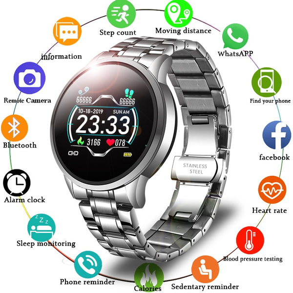 LIGE 2020 New Smart-watch Waterproof  for Android & Ios - Hivexi