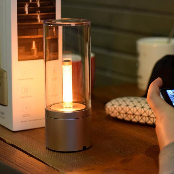 1Pc Friendship Lamp USB Candle Light Led Rechargeable Yeelight Candela Atmosphere Ambient Lamp Kitchen Cabinets Bedroom Lighting - Hivexi