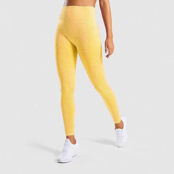 Women High Waist Pants Sexy Girls Running Fitness Seamless leging Breathable Quick Dry Training Pants - Hivexi
