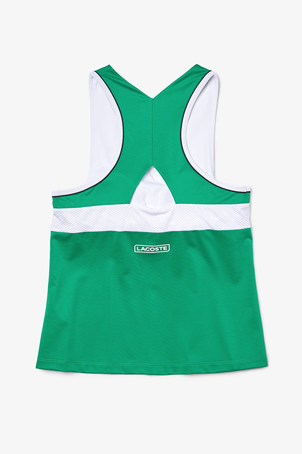 Women's Lacoste SPORT Cutout Breathable Stretch Tank