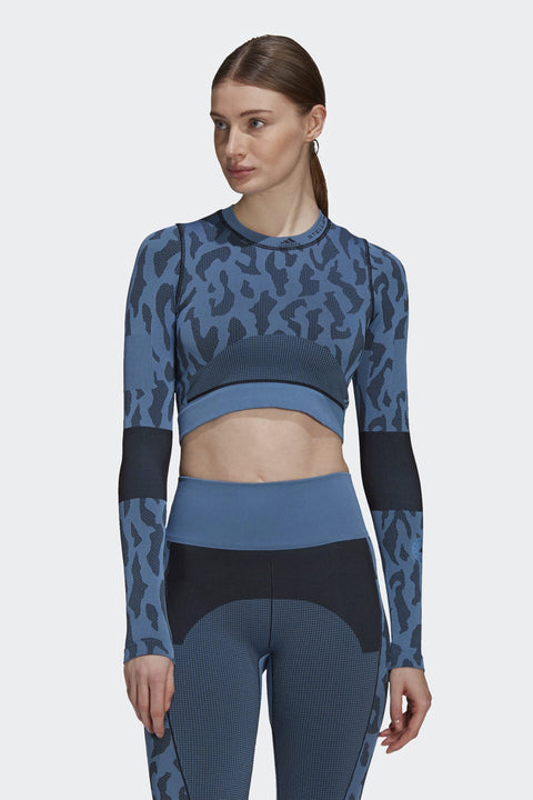 ADIDAS BY STELLA MCCARTNEY TRUEPURPOSE SEAMLESS CROP TOP