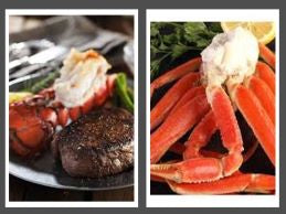 SURF & TURF FIRST CHOICE PACKAGE SPECIAL WITH WAGYU TRIP TIP STEAK, MAINE LOBSTER TAILS, SNOW CRAB