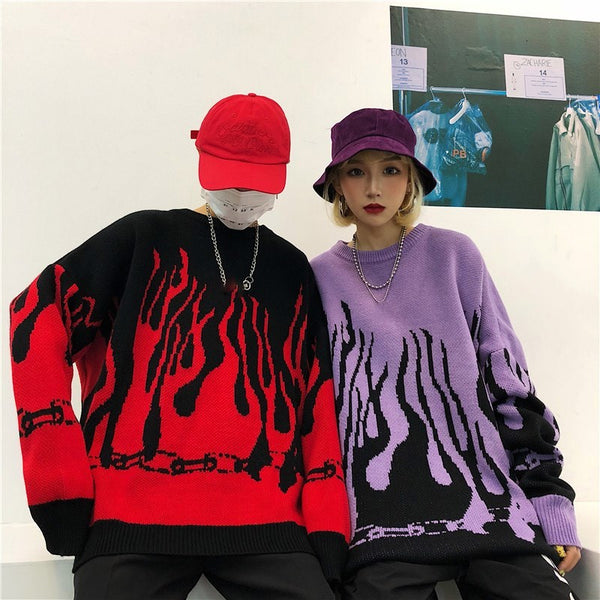 FLAMED OVERSIZED LONG SWEATER