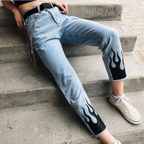 FLAME BOTTOM JEANS