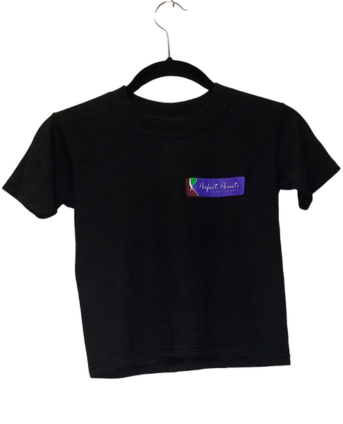 Children's Black Logo T-Shirt