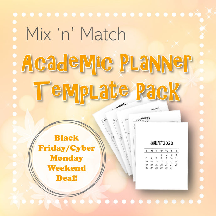 Mix 'n' Match Academic Planner Template Pack