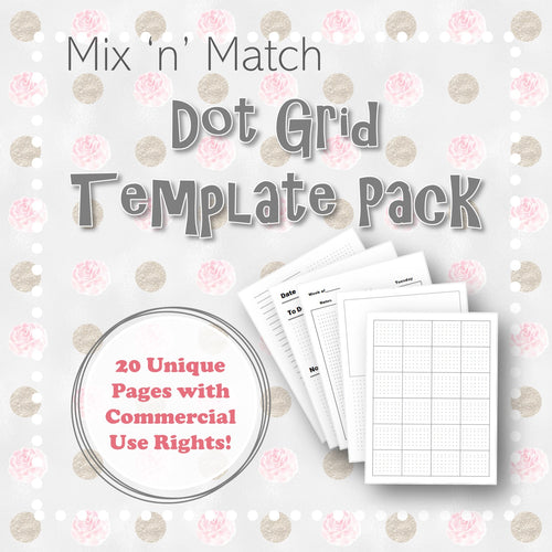Mix 'n' Match Dot Grid Template Pack with Commercial Use Rights