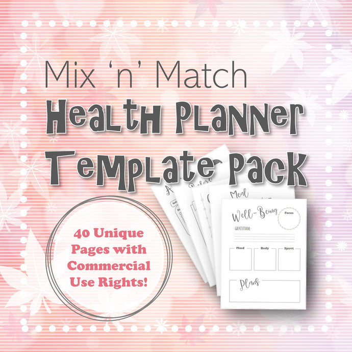 Mix 'n' Match Health Planner Template Pack