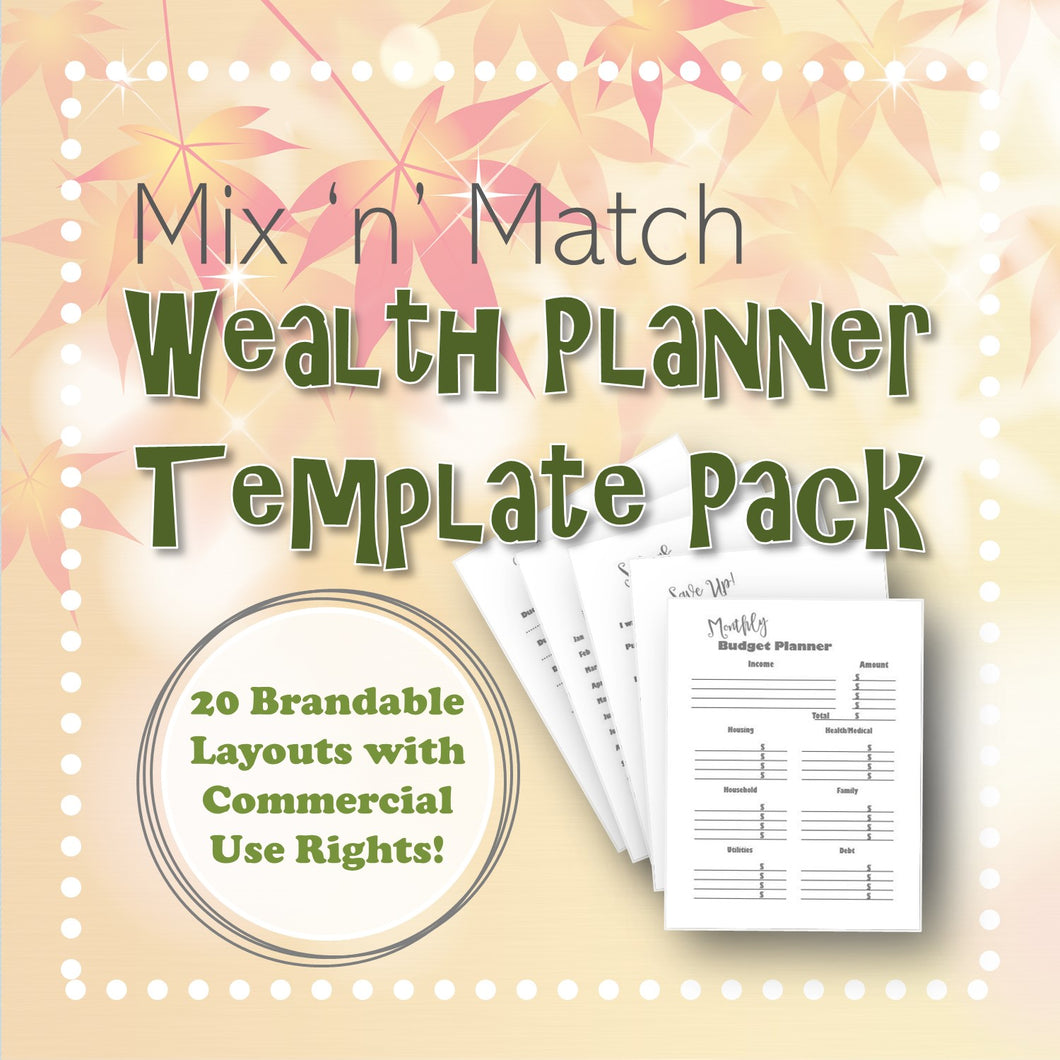 Mix 'n' Match Wealth Planner Template Pack
