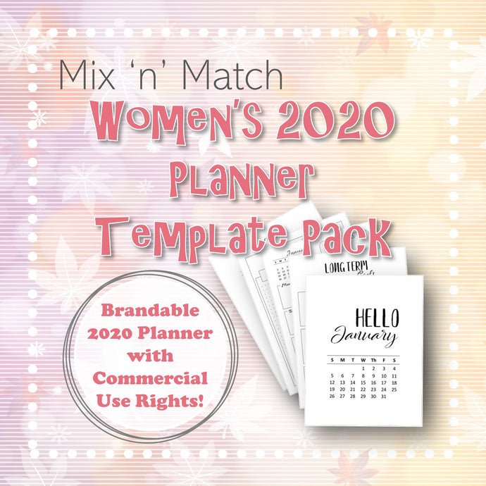 Mix 'n' Match Women's 2020 Planner Template Pack