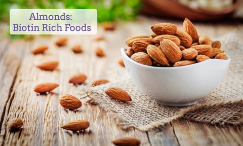 almonds-food-that-contain-biotin