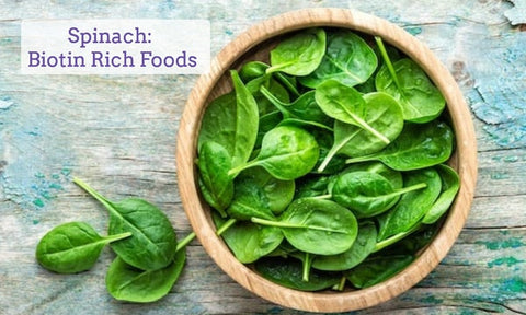 food-rich-in-biotin-for-hair-spinach