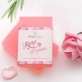 Rose Geranium Soap (Pack of 2)