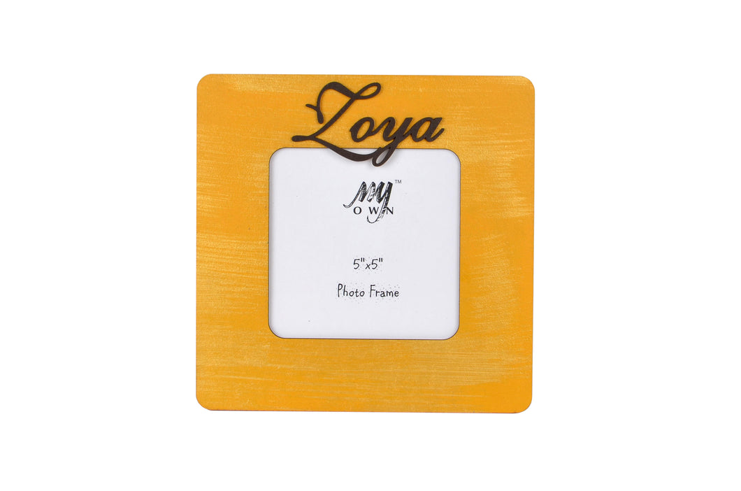 Personalized Square Gold Rustic Photo Frame