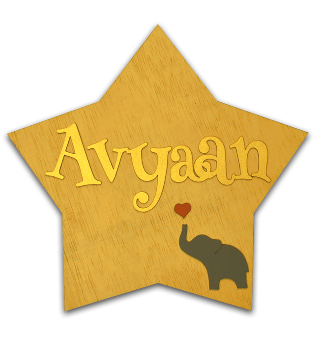 Star Elephant Buttercup Name Plate
