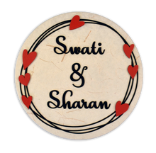 Load image into Gallery viewer, Hearts Boho Round LED Name Plate