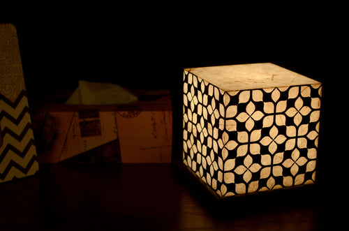 Love My Space Collection - Geometric LED Table Lamp