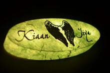 Load image into Gallery viewer, Angel Wings Ellipse LED Name Plate