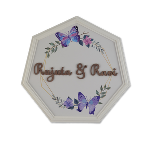 Septagon Butterflies Pristine Name Plate