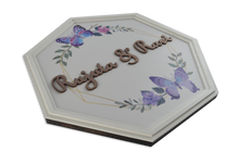 Load image into Gallery viewer, Septagon Butterflies Pristine Name Plate