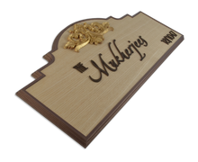 Load image into Gallery viewer, Fleur De Lis Regalia Veneer Name Plate