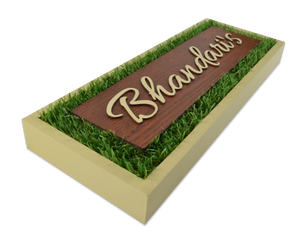 Rectangle Verdure Name Plate