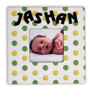 Personalized Polka Dots Photo Frame