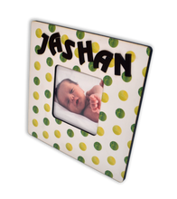 Load image into Gallery viewer, Personalized Polka Dots Photo Frame