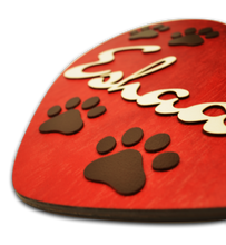 Load image into Gallery viewer, Heart Paw Buttercup Name Plate