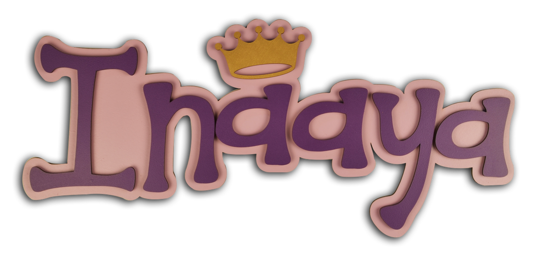 Crown Sparkles Name Plate