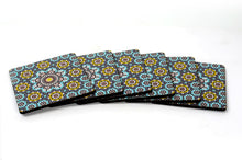 Load image into Gallery viewer, Mosaic Pattern Square Coasters Set of 6