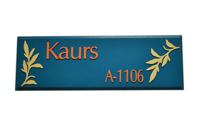 Leaf Cherish Name Plate