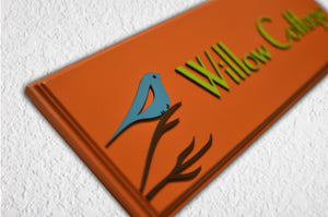 Bird Cherish Name Plate